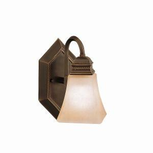 One Light Oiled Bronze Wall Light