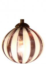Oggetti Luce 18-185A - PERLE, AMBER STRIPES, SN, DOME