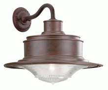 Troy B9392OR - South Street 1Lt Wall Downlight Large Old Rust