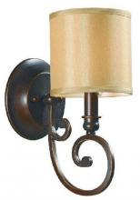 World Imports WI351129 - Rue Maison 1-Light Euro Bronze Sconce with Shade