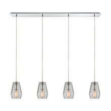 ELK Lighting 10523/4LP - Ribbed Glass 4 Light Pendant in Polished Chrome